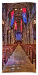 Beach Towel featuring the photograph Princeton University Chapel by Susan Candelario