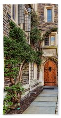 Beach Sheet featuring the photograph Princeton University Foulke Hall II by Susan Candelario