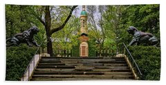 Beach Towel featuring the photograph Princeton University Nassau Hall II by Susan Candelario