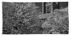 Beach Sheet featuring the photograph Princeton University Buyers Hall by Susan Candelario