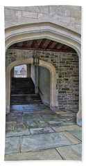 Beach Towel featuring the photograph Princeton University Whitman College Arches by Susan Candelario