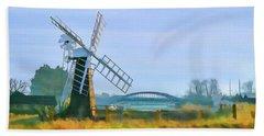 Priory Windmill Beach Towel