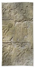 Private Tombs -painting West Wall Tomb Of Ramose T55 - Stock Image - Fine Art Print - Thebes Beach Towel