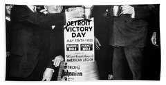 Prohibition Ends - Stroh's Brewery Celbrates - Detroit 1933 Beach Towel by Daniel Hagerman