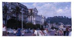 Promenade Des Anglais, Nice, France Beach Towel