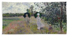 Promenade Near Argenteuil Beach Towel