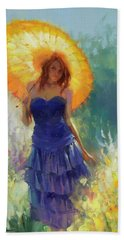 Beach Towel featuring the painting Promenade by Steve Henderson