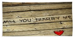 Propose To Me Beach Sheet by Carolyn Marshall