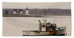 Prospect Harbor Lighthouse Beach Towel