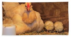 Beach Towel featuring the photograph Proud Mother Hen by Jeanette Oberholtzer