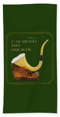 Proud To Be A Calabash Pipe Smoker Beach Towel