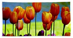 Proud Tulips Beach Sheet