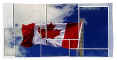 Proudly Canadian Beach Towel