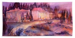 Provence France Country Estate Beach Towel