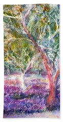 Provence Lavender And Olive Trees Beach Towel