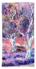 Provence Lavender Field And Olive Trees Beach Towel