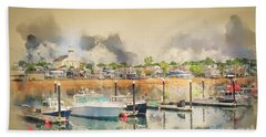 Provincetown Harbor Cape Cod Beach Towel by Jack Torcello