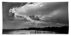 Beach Sheet featuring the photograph Provincetown Storm by Charles Harden