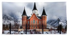 Provo City Center Temple Lds Large Canvas Art, Canvas Print, Large Art, Large Wall Decor, Home Decor Beach Towel by David Millenheft