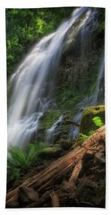 Beach Towel featuring the photograph Proxy Falls by Cat Connor