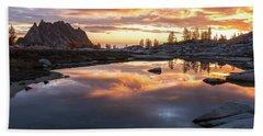 Prusik Peak Golden Fire Beach Towel