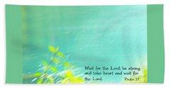 Psalm 27 Beach Towel
