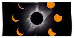 Psalm Nineteen Solar Eclipse Beach Towel