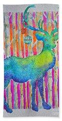 Psychedeer Beach Towel by Li Newton