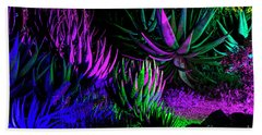 Psychedelia Beach Sheet by Kathy McClure