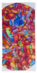 Beach Towel featuring the drawing Psychedelic Abstract by Megan Walsh