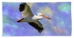 Beach Sheet featuring the photograph Psychedelic Bird by James BO Insogna