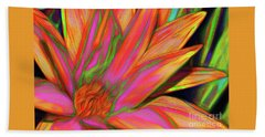 Beach Towel featuring the photograph Psychedelic Daisy By Kaye Menner by Kaye Menner