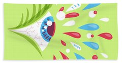 Psychedelic Eye Beach Towel