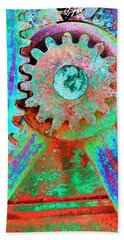 Psychedelic Gears Beach Towel by Phyllis Denton