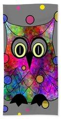 Psychedelic Owl Beach Towel
