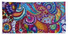 Psychedelic Paisley Beach Sheet