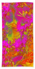 Psychedelic Spring Azaleas Beach Sheet by Suzanne Powers