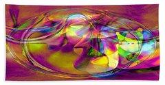Beach Towel featuring the digital art Psychedelic Sun by Linda Sannuti