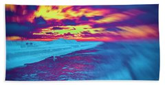 Psychedelic Sunset Beach Sheet