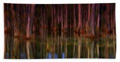 Psychedelic Swamp Trees Beach Towel
