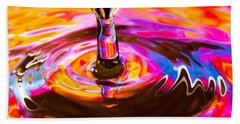 Psychedelic Water Drop Beach Towel