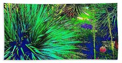 Psychedelic Yuccas. #plant #yucca Beach Towel