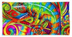 Psychedelizard Beach Towel