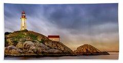 Pt Atkinson Lighthouse Sunset Beach Towel