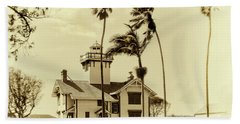 Pt. Fermin Lighthouse Beach Towel by Joseph Hollingsworth