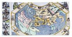 Ptolemaic World Map, 1493 Beach Towel