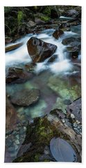 Puddle By The Creek Beach Towel