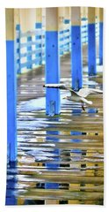 Beach Sheet featuring the photograph Puddles by Diana Angstadt