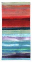 Pueblo- Abstract Art By Linda Woods Beach Towel