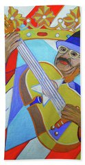 Beach Towel featuring the painting Puerto Rican Cuatro  - Ten Strings by Denise Weaver Ross
